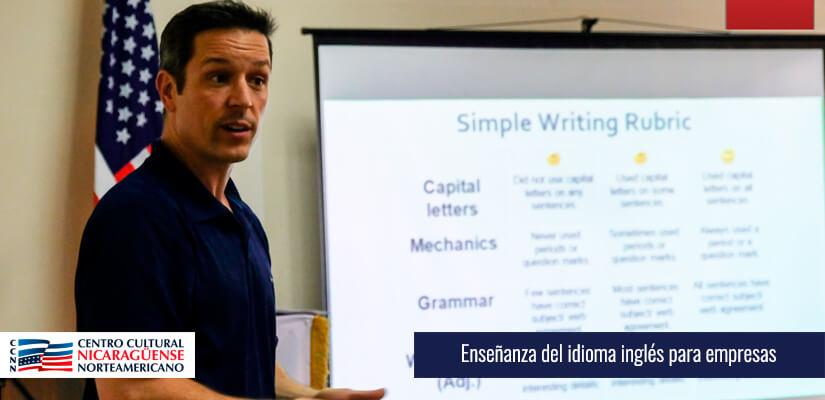 Enseñanza del idioma inglés para empresas