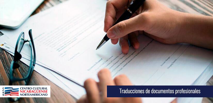 Traducciones de documentos profesionales